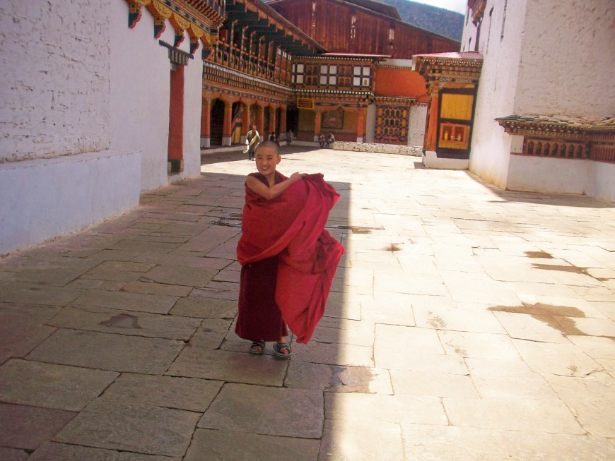 mini monk, Bhutan, slimpaley.com