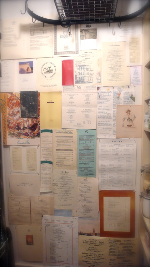 Menu collection, pantry wall, slimpaley.com