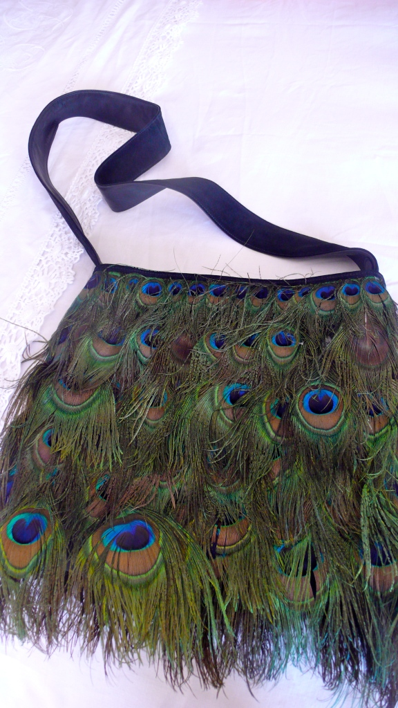 #Vintage Tom Ford #Gucci peacock bag , slimpaley.com