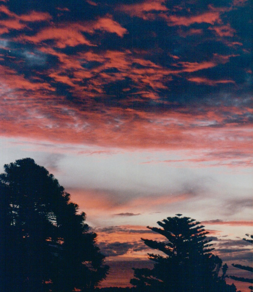 porch sunset, Santa Barbara