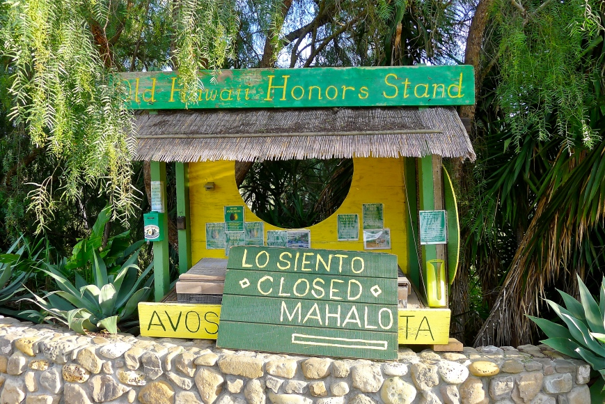 Honor fruit stand, Ojai