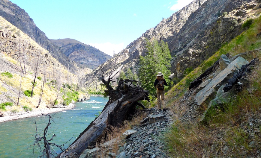 Hiking the river, Idaho