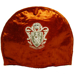 « ROYAL TEA »  orange tea-cosy