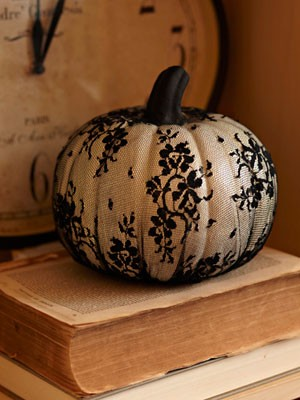 black lace pumpkin