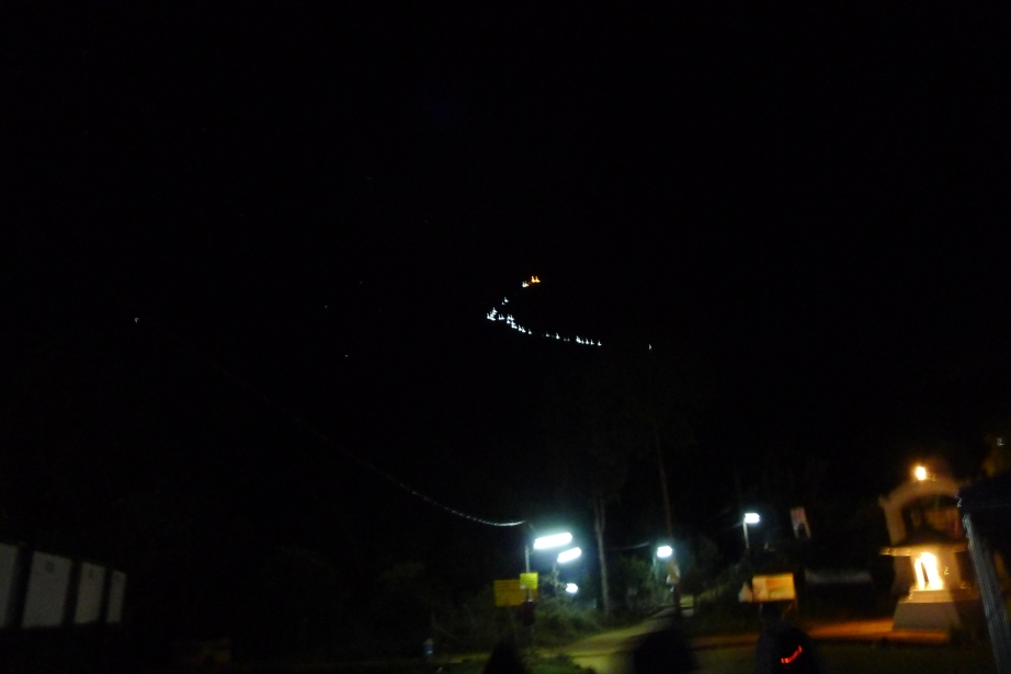 ascending Adam's Peak in the night, Sri Lanka