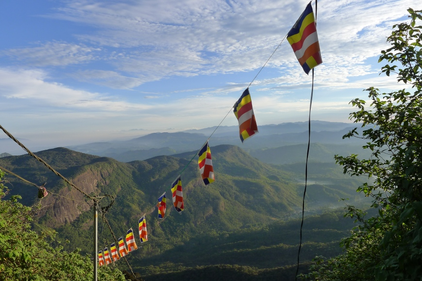 Slim Paley, summit of Adam's Peak, Sri Lanka