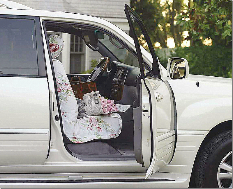 Slim Paley's car slipcovers