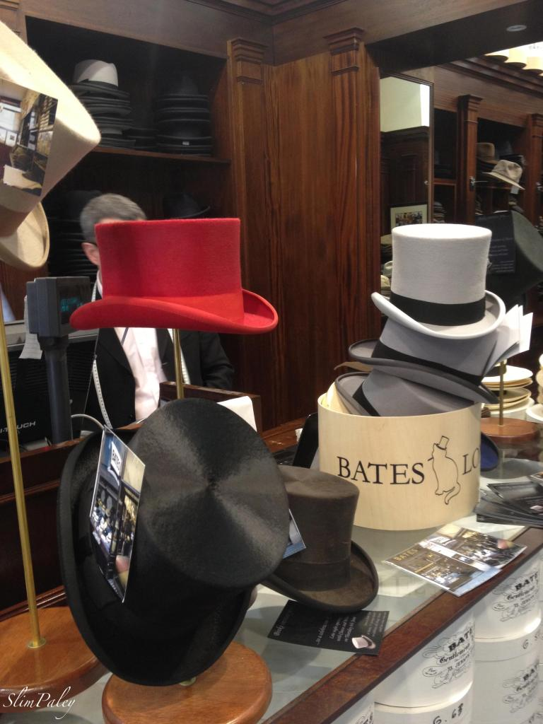 Top hats, London hat shop