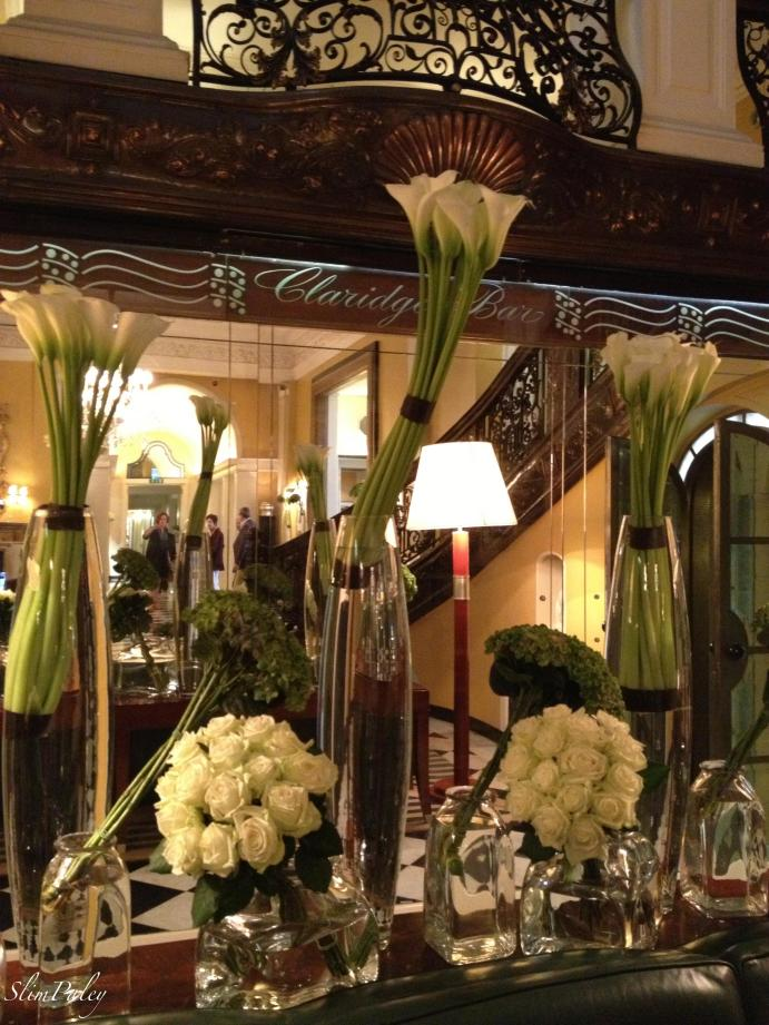 Flower arrangements, Claridges