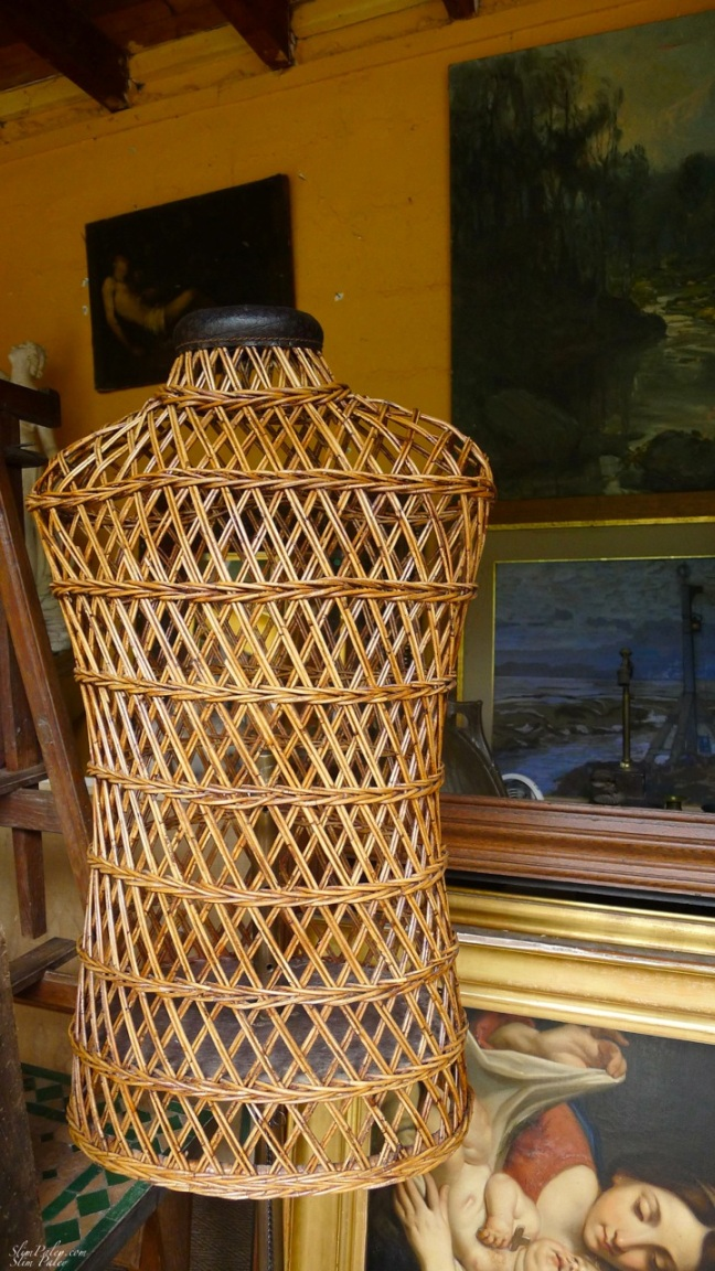 Wicker dress form, Slim Paley photo