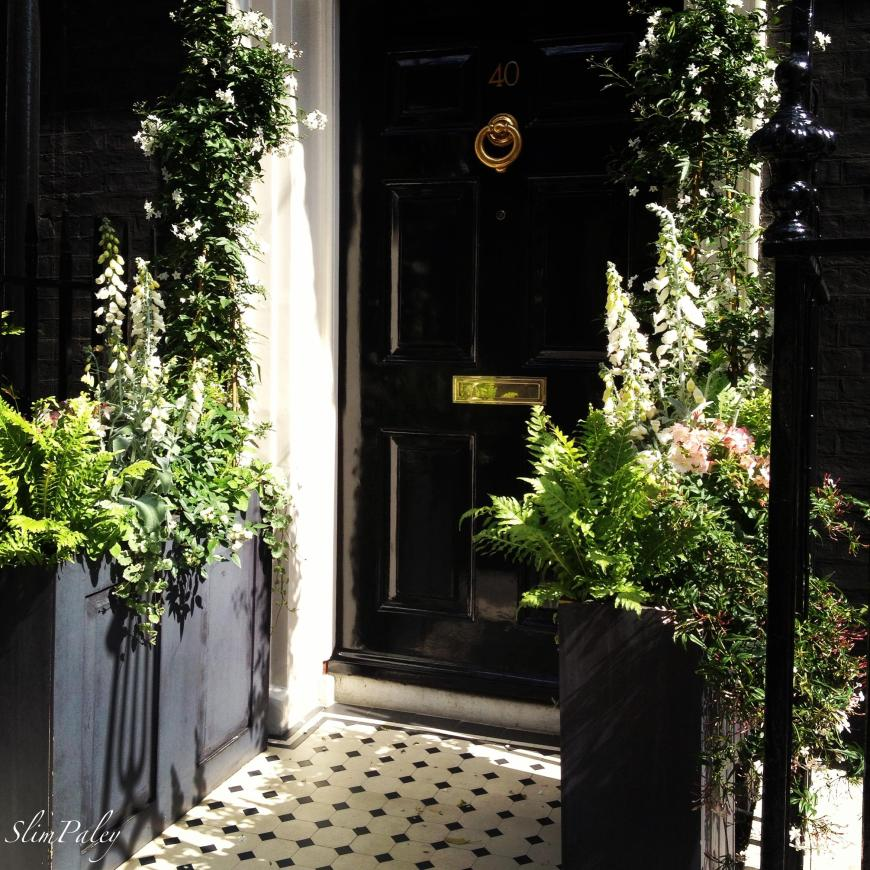 Black door, Mayfair, London