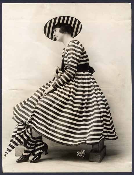 vintage black & white stripe fashion shot