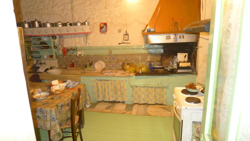 very old kitchen in Greece