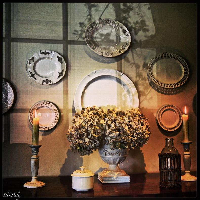 Light on the dining room wall, Slim Paley
