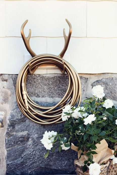 antler hose holder