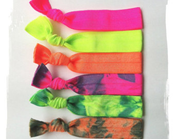 fluorescent hair ties